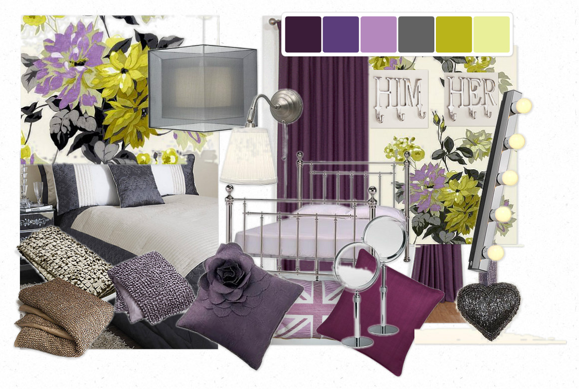 Purple and Gray Master Bedroom 1161 x 779