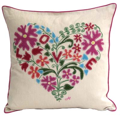 Designer Flower Cushion