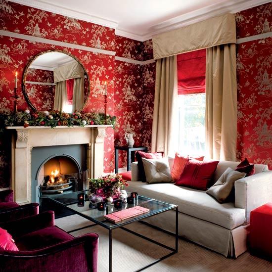 Purple posh living room